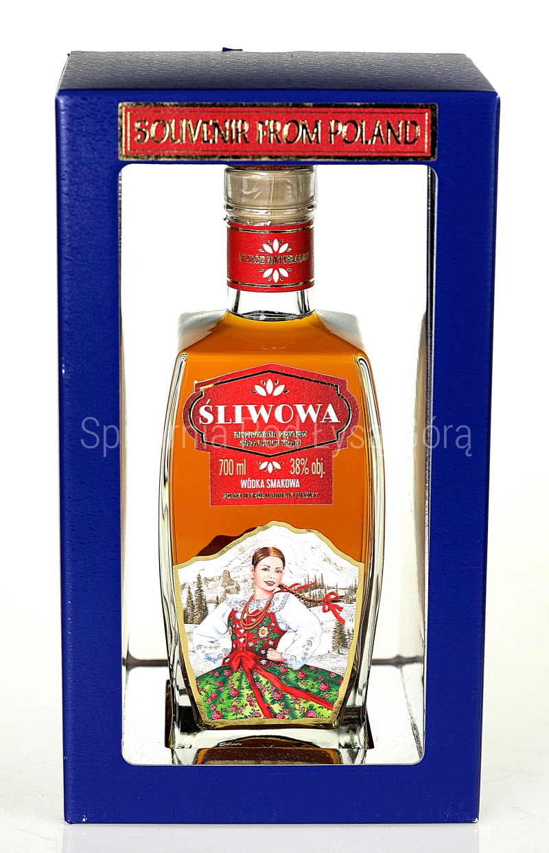 Souvenir Frome Poland ''Góralka''-Wódka Śliwowa