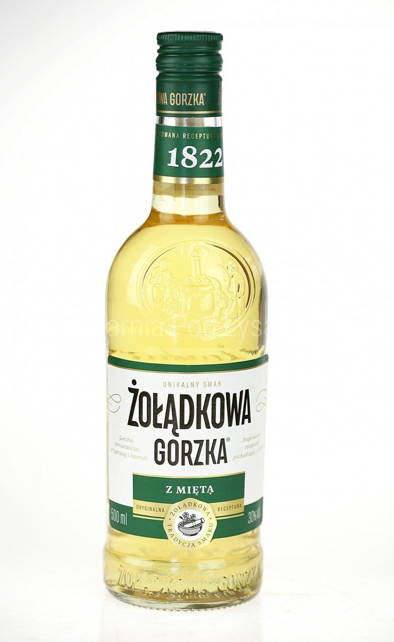 2b55122bcdc694 Żołądkowa Gorzka z Miętą 0,5 l - Wódki Kolorowe (Smakowe) - Wódki ...